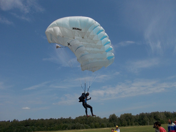 В минувшие выходные прошел второй этап парашютно-атлетического многоборья